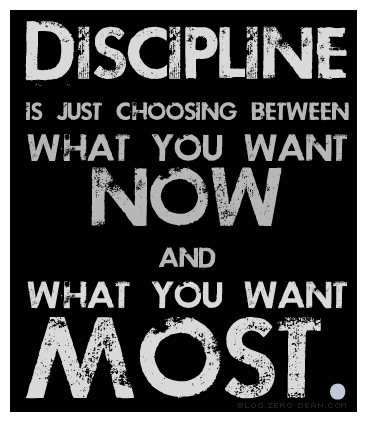 self disciplined person