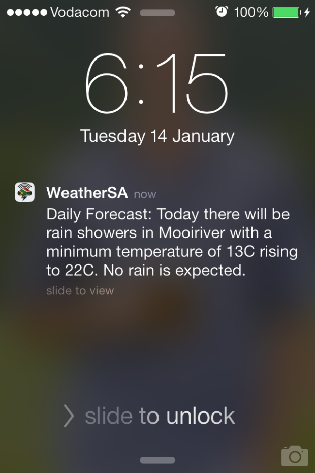 I had to giggle at this - question: will there or will there not be rain?