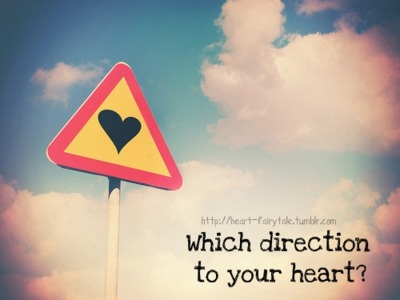Which direction to your heart?